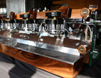 The refurbished original Starbuck's La Marzocco